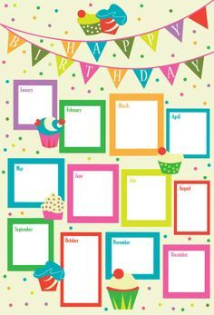 Birthday Chart For Kindergarten Jpg 236x347