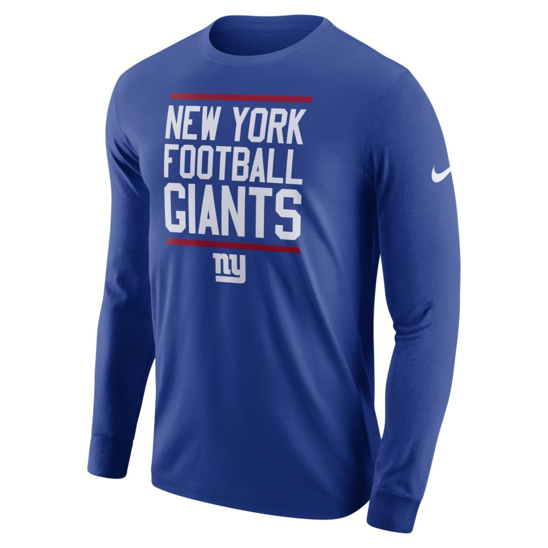 best authentic ac18f 2adde Dri-FIT (NFL Giants) Men's Long-Sleeve T-Shirt | Products ...