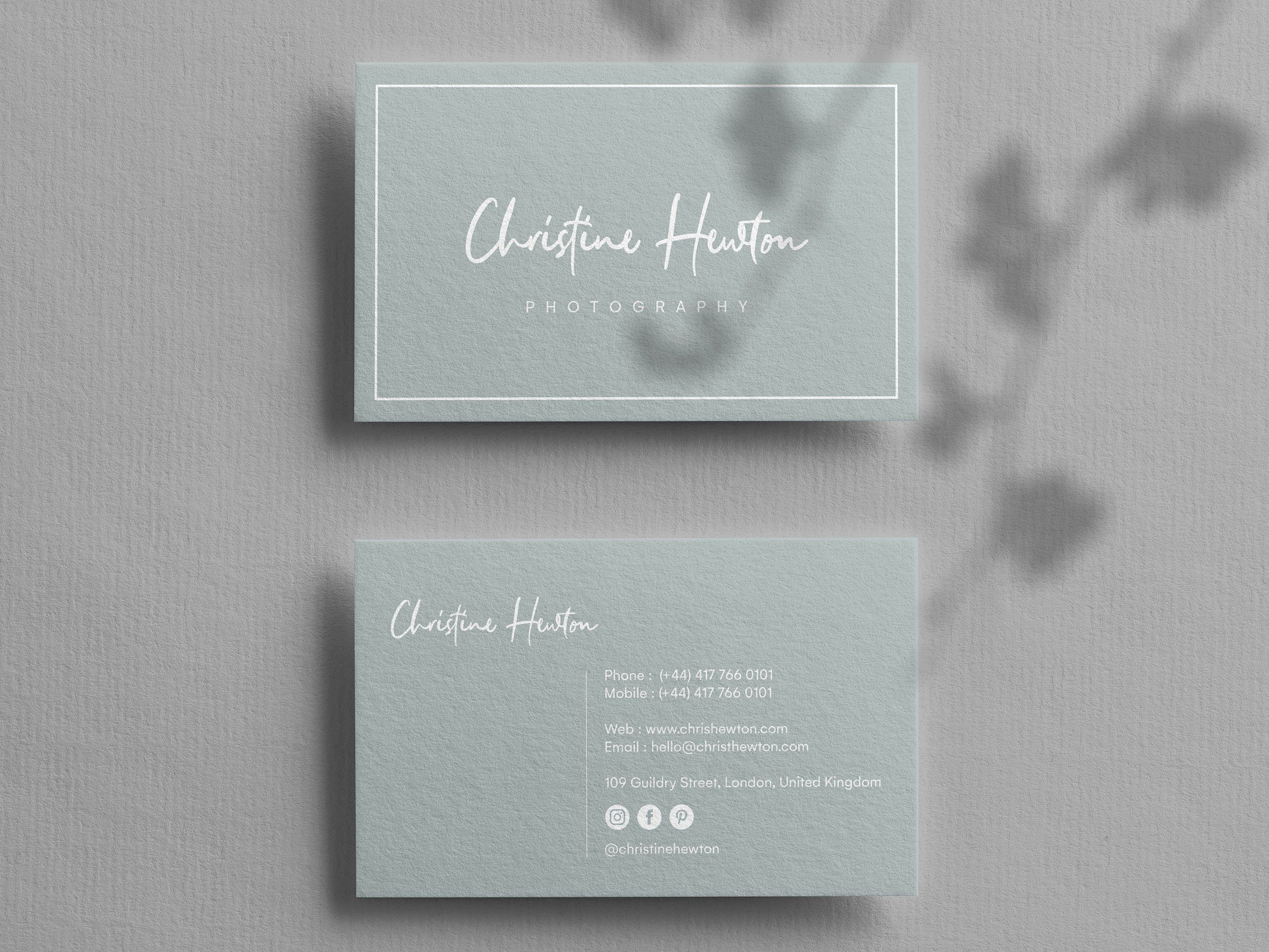 Business Card Template Instant Download Custom Business Card Etsy Printable Business Cards Custom Business Cards Business Card Psd