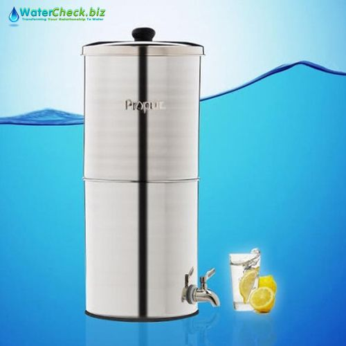 Propur Nomad Polished Stainless Gravity Fed Fluoride Water Filter