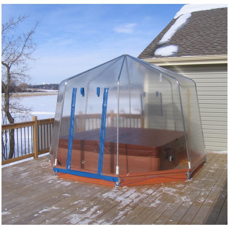 Spa Dome Enclosure By Sun Dome Poolstore Com Hot Tub Patio Hot Tub Backyard Hot Tub Landscaping