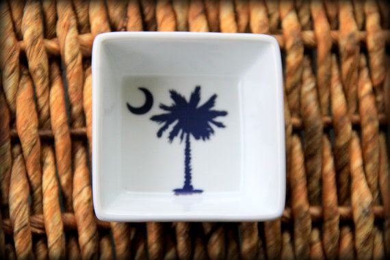 Palmetto Jewelry Dishes by LowcountryLovelyShop on Etsy