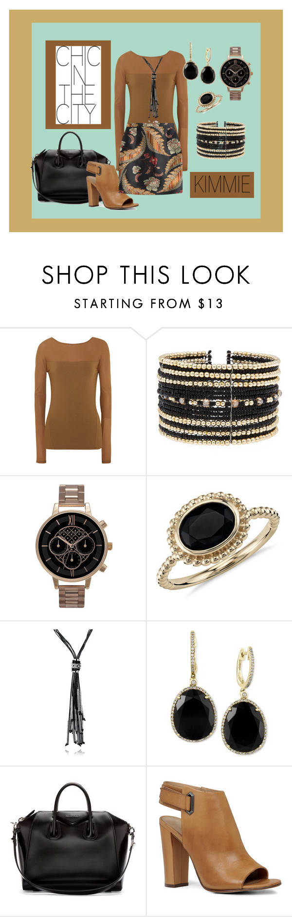 """Chic In The City"" by cozyk on Polyvore featuring Donna Karan, Eloquii, Olivia Burton, Blue Nile, Effy Jewelry, Givenchy, ALDO and Dsquared2"