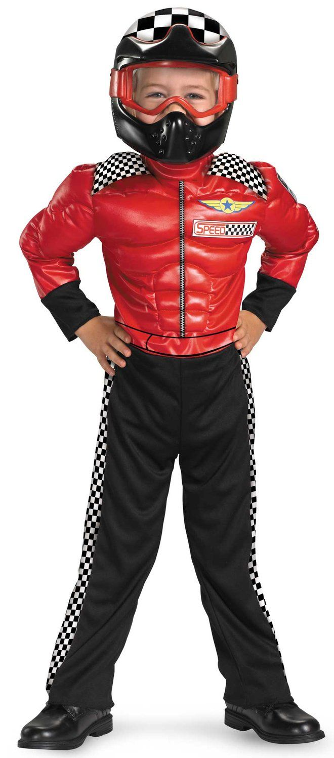 trick or treat as turbo race car driver kids costume this halloween