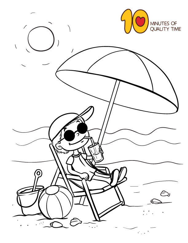 sitting in a beach chair coloring page umbrella coloring page coloring pages giraffe coloring pages sitting in a beach chair coloring page