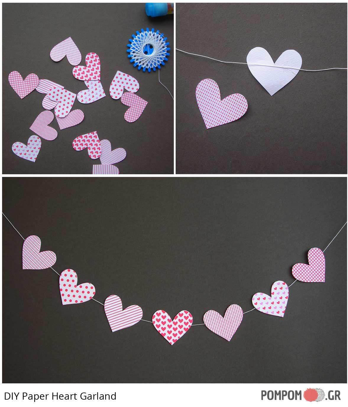Valentines Day Garland - Freebie - diy γιρλαντα Αγιου Βαλεντινου με δωραν πατρον
