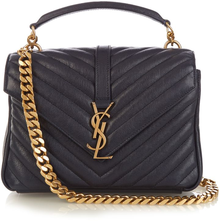 7ff2ee887b SAINT LAURENT Collège medium quilted-leather cross-body bag ...
