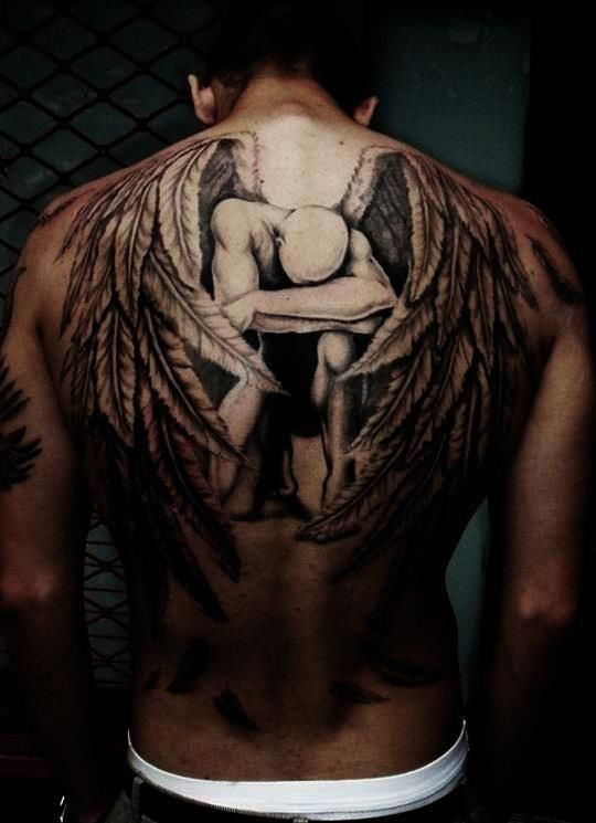 Excellent Fallen Angel #tattoo  Goth And Industrial