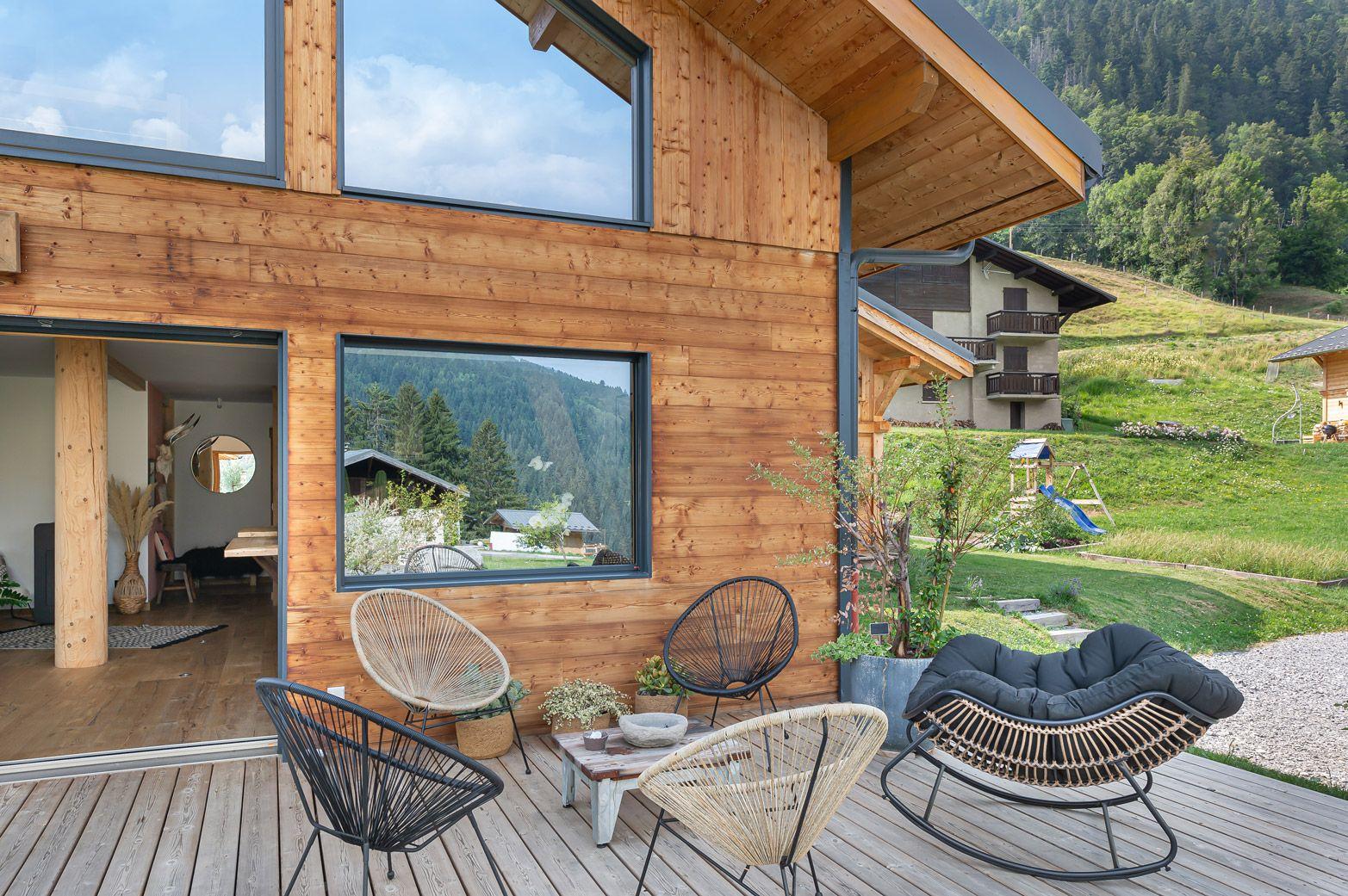 Le Chalet Des Cedres Maison Ossature Bois Constructeur Maison Maison Bois