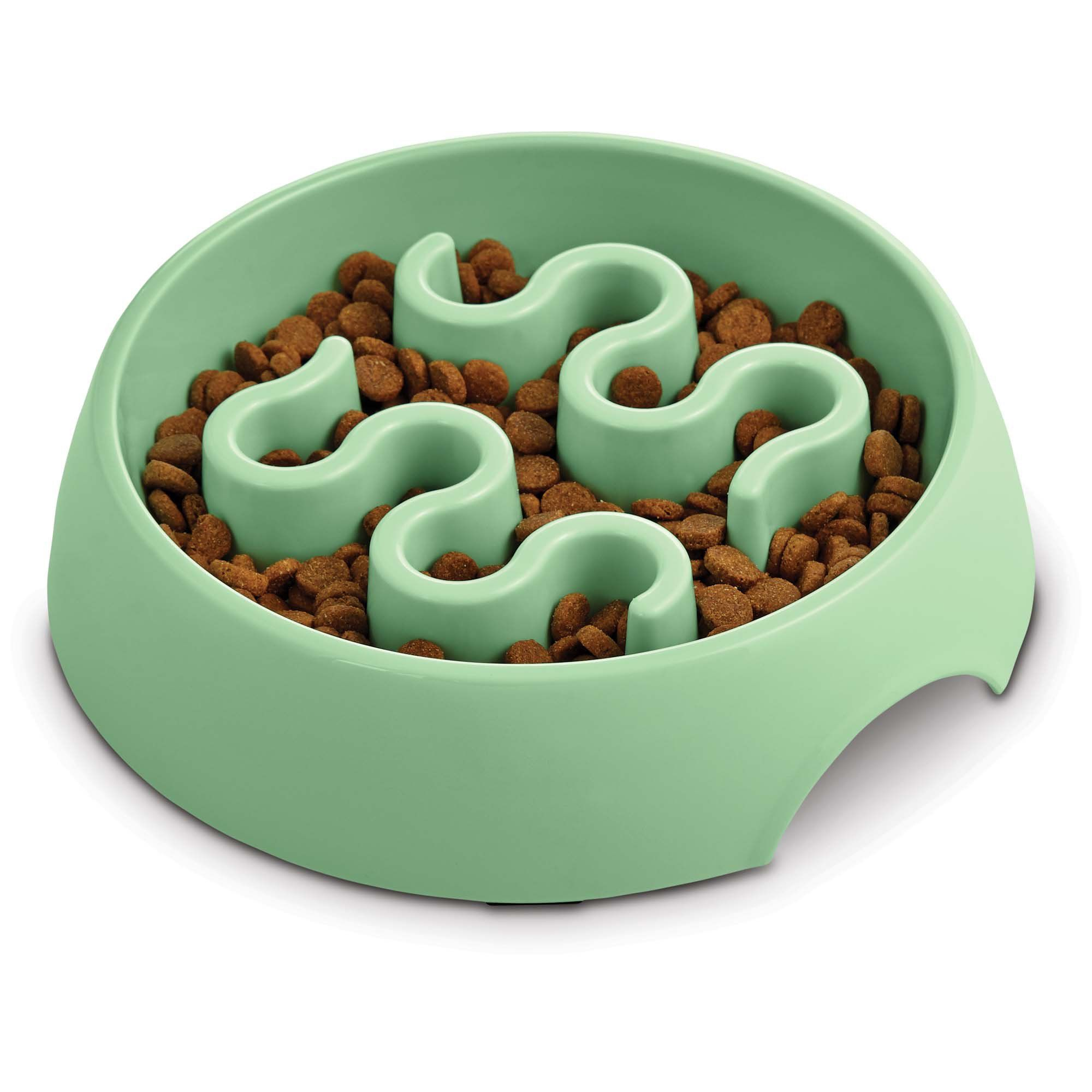 Harmony Mint Plastic Slow Feeder Dog Bowl Small Dog Bowls Slow