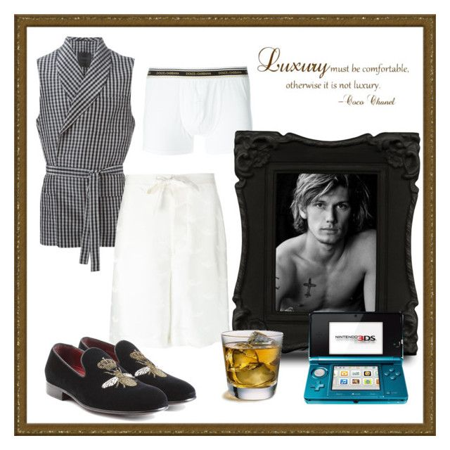 """""""Ready for Bed by Kole"""" by houseofstone-1 ❤ liked on Polyvore featuring La Perla, Dolce&Gabbana, Scotch & Soda, Chanel, men's fashion and menswear"""