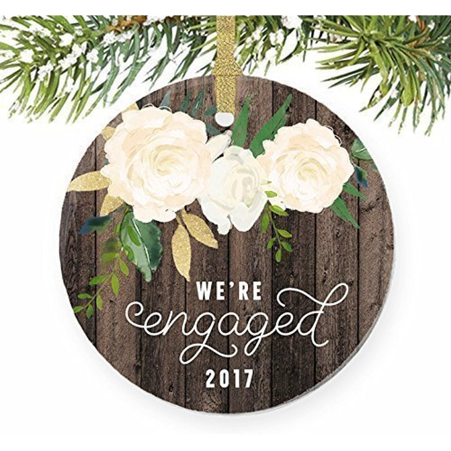 Weure engaged christmas ornament gifts for the bride to be