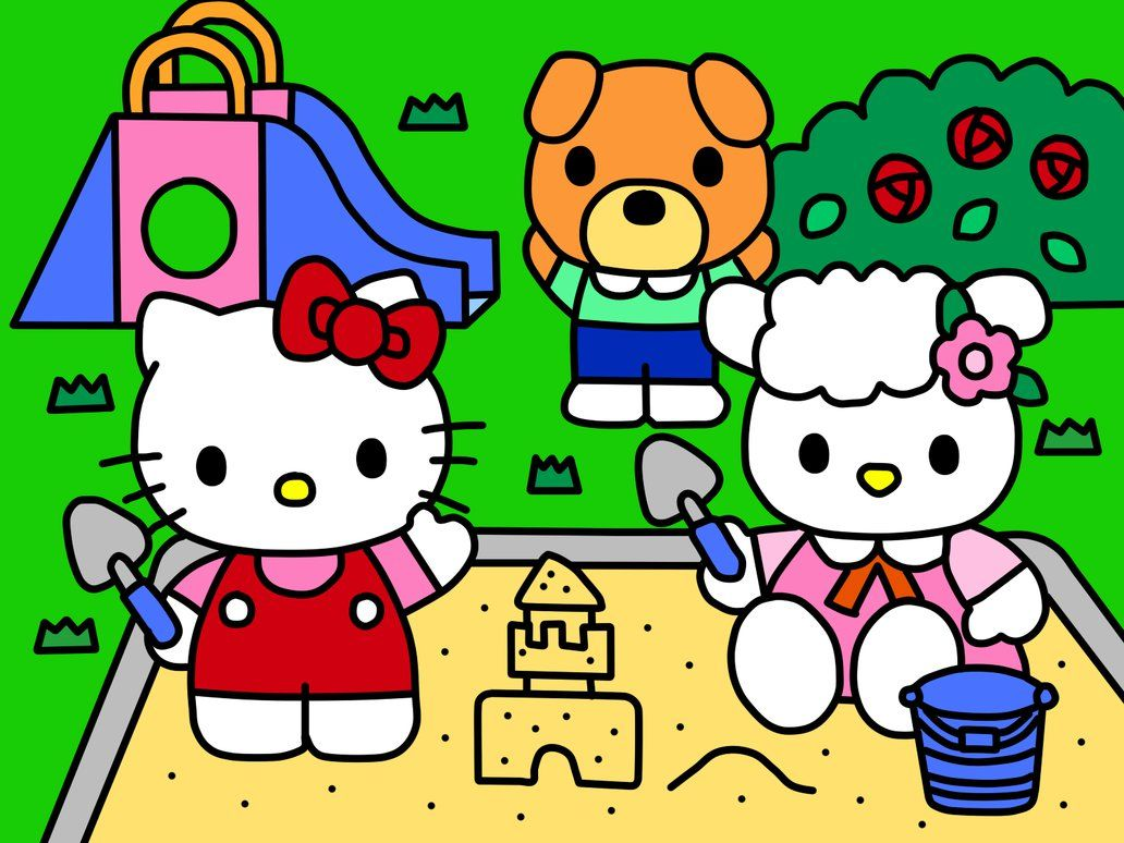 51054fd19 Hello Kitty in Playground (Coloring Book) by Kittykun123.deviantart.com on…