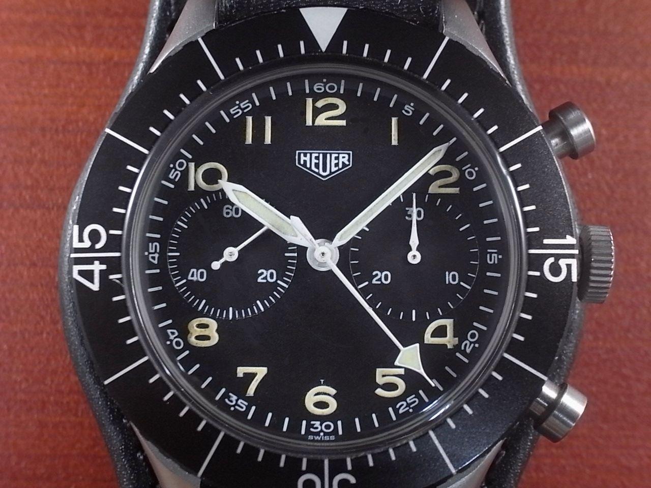 ホイヤー 軍用時計 西ドイツ空軍 Type.1550 SG フライバッククロノグラフ 1960年代の写真2枚目