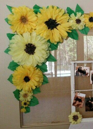 Diy Paper Flower Backdrop Babyshower 2018 Paper Sunflowers
