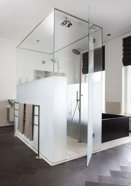 milchglas duschkabine glas wohnung badezimmer kleine badezimmer