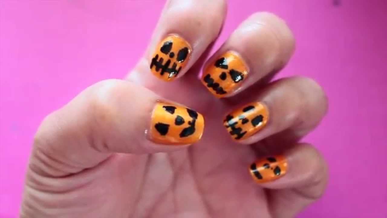 ♥ DIY: Diseño de uñas fáciles (HALLOWEEN) | Uñas | Pinterest ...