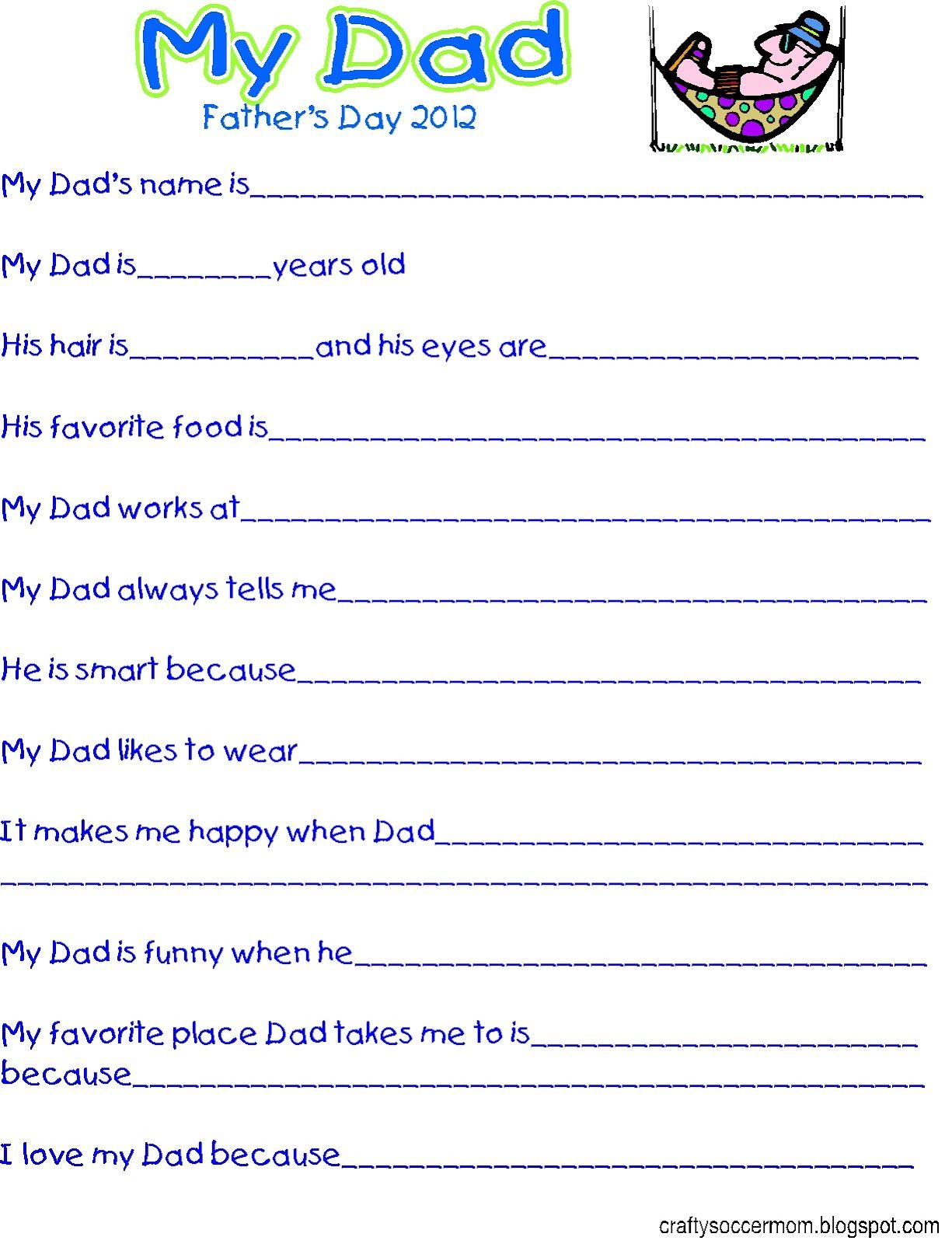 Father S Day Survey Printable My Kids Are Way Too Old