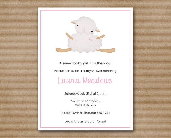 Superior Lamb Baby Shower Invitation / Sheep Baby By PaperHouseDesigns, $7.00