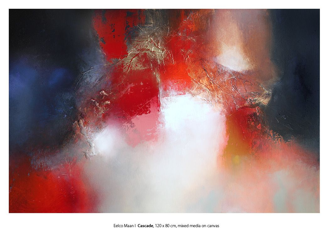 Eelco Maan  I Cascade, 120 x 80 cm, mixed media on canvas / available at galerie Sous Terre, www.sous-terre.nl