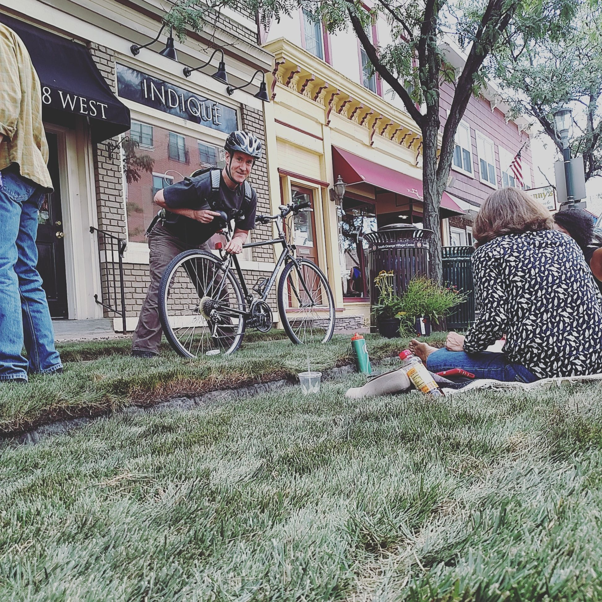 View of parklet in South Orange during Parking Day Photo by