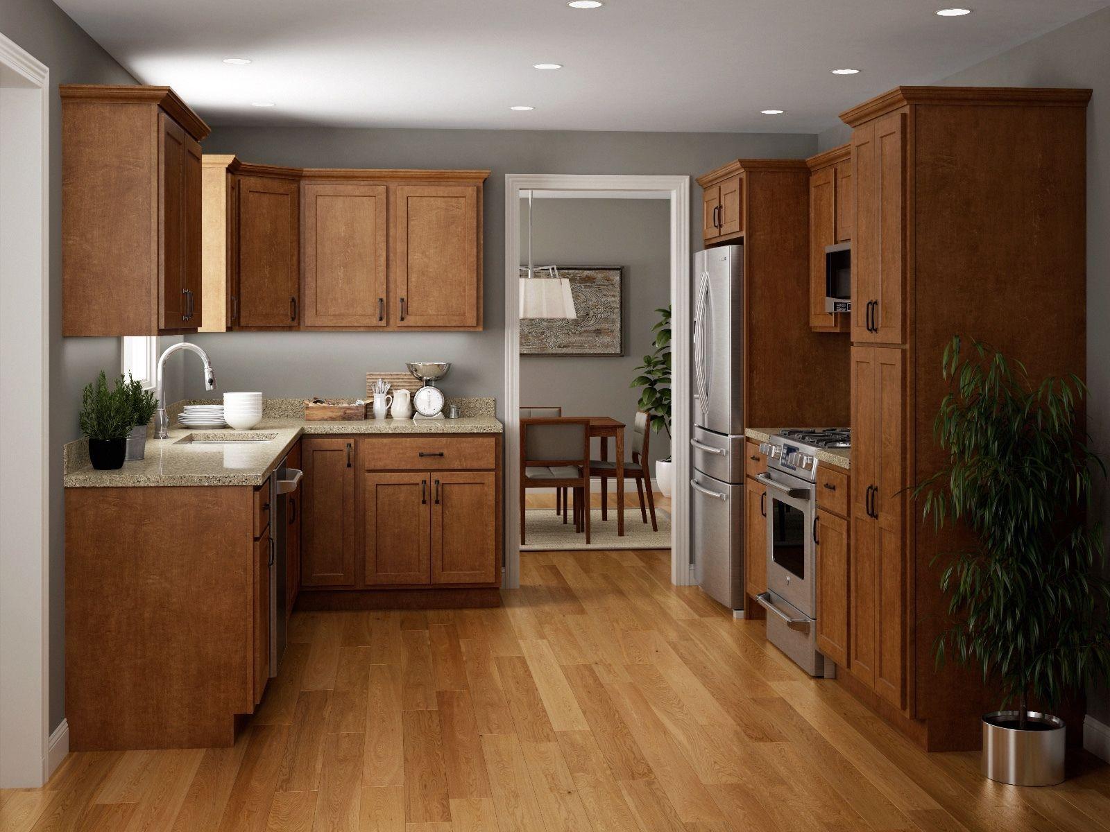 Salem Brown Collection JSI 10x10 kitchen cabinets Kitchen