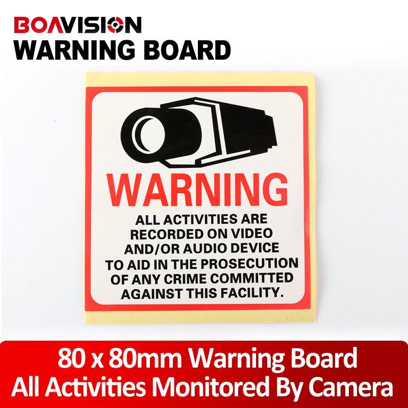 Pcs Waterproof Sunscreen Pvc Decal Sticker Warning Board