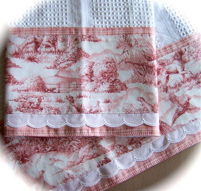 A Pair Of Decorative Tea Towels Decorative Tea Towels Tea