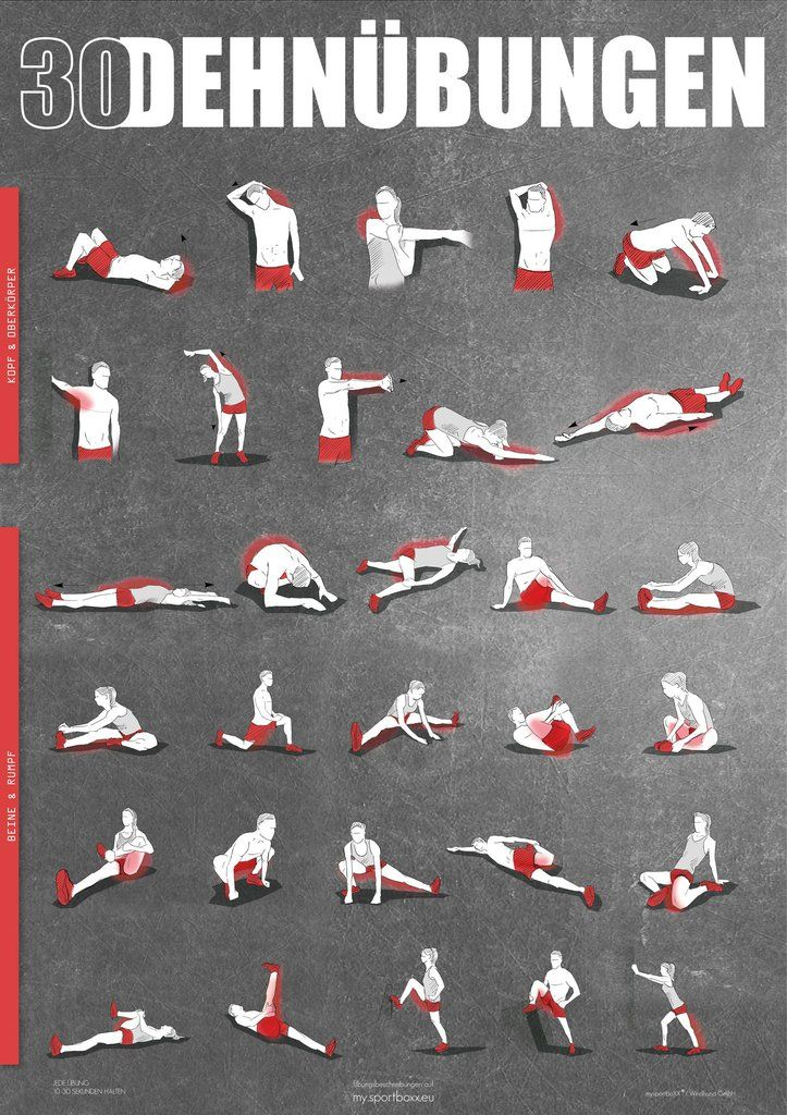 Stretching Poster - DIN A1 #cardiopilates