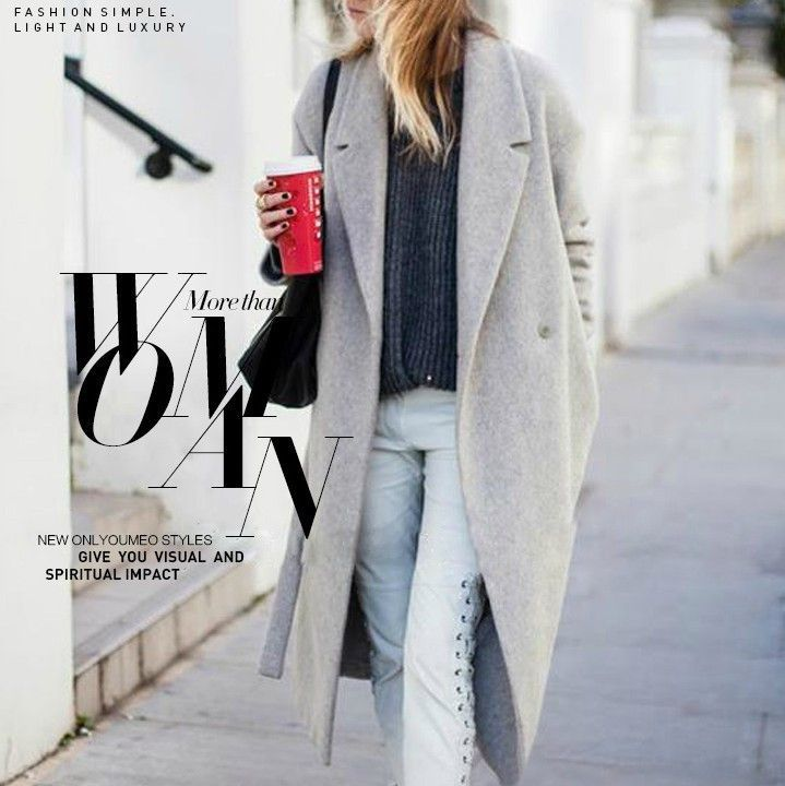 Design Hollywood Warm x-Long Oversize Imitation Cashmere Coats ...