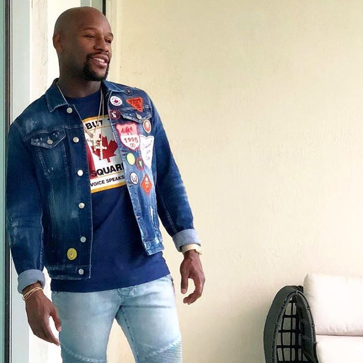 The Legendary Boxer Floyd Mayweather Wearing The