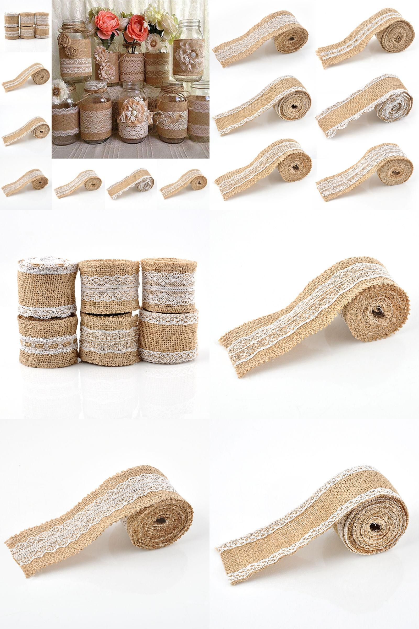 Visit To Buy 2016 2m Vintage Jute Burlap Hessian Ribbon Roll With Lace Trims Tape Rustic Wedding Party Decor Weddin Sewing Ribbon Fabric Crafts Sewing Crafts