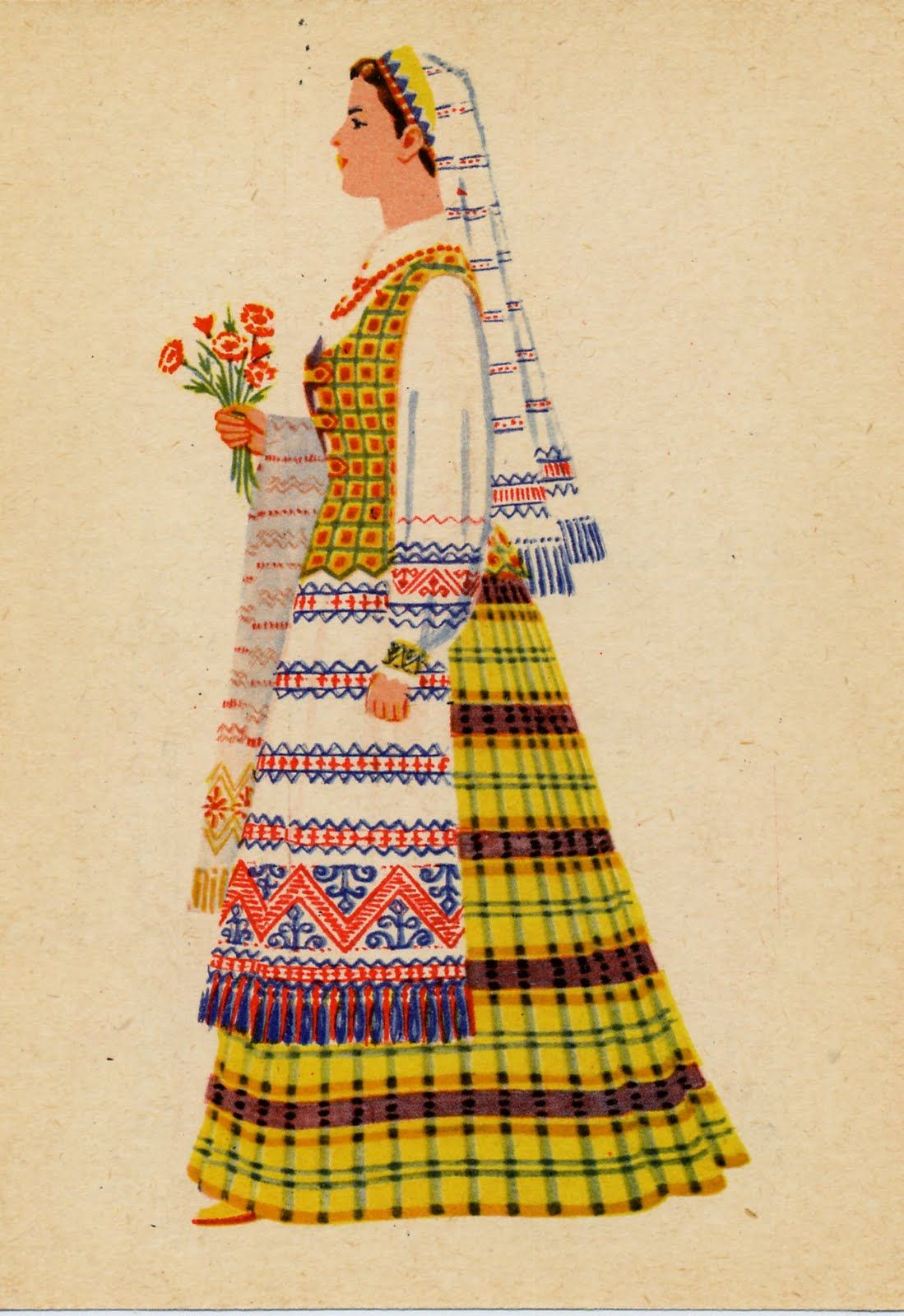 FolkCostume&Embroidery: Costume of the Vilnius Region, Lithuania