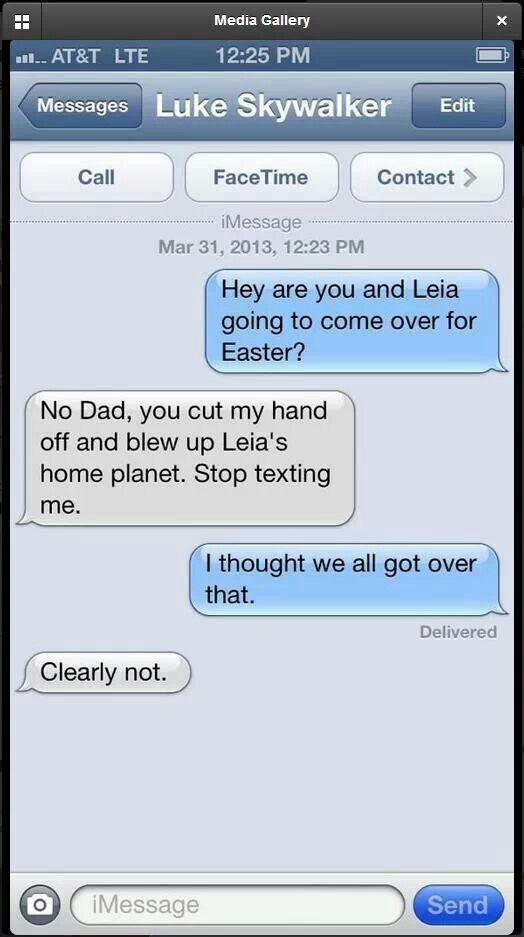 Hahahahahaha! Oh man, Star Wars jokes are the BEST