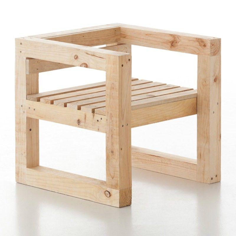 Resultado de imagen para sillones de madera sillas for Sillones de madera para jardin