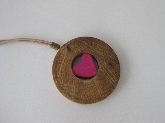 Valentine necklace. Trapped heart necklace. by Stelakastela
