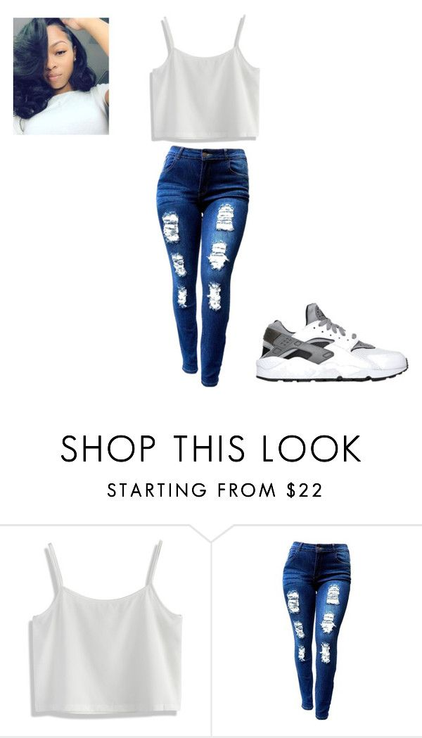 """Untitled #186"" by briajohnson ❤ liked on Polyvore featuring Chicwish and NIKE"