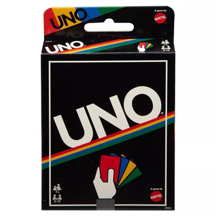 Uno Card Game Retro Edition Uno Card Game Uno Cards Classic Card Games