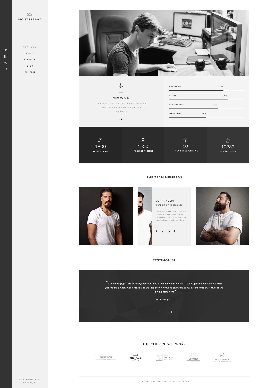 Monsterrat - Minimal HTML Portfolio Template #site #stylish #full ...