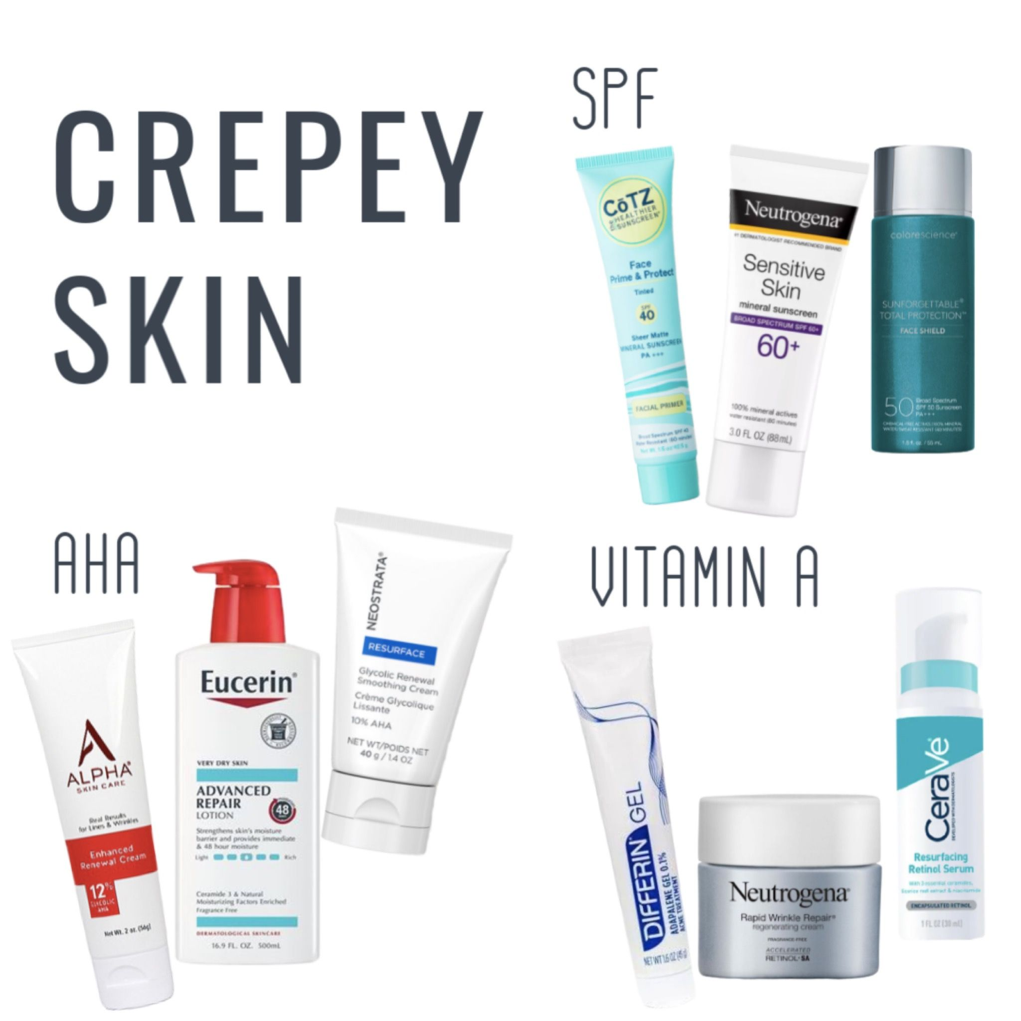 Best Skin Care Products For Crepey Skin Crepey Skin Dr Dray Beauty Skin Care Routine