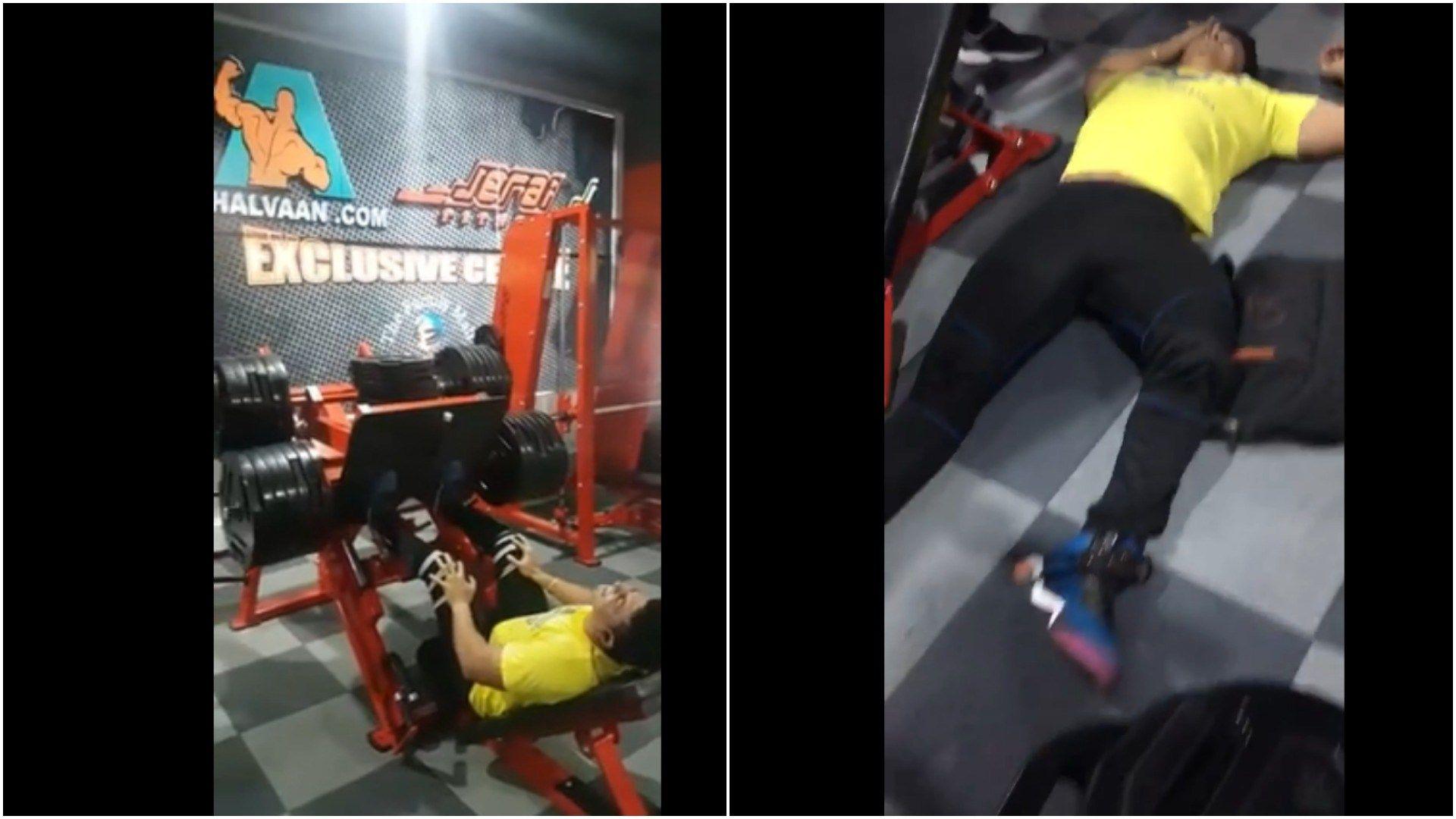 GRAPHIC Guy Breaks Leg On Leg Machine Leg machines