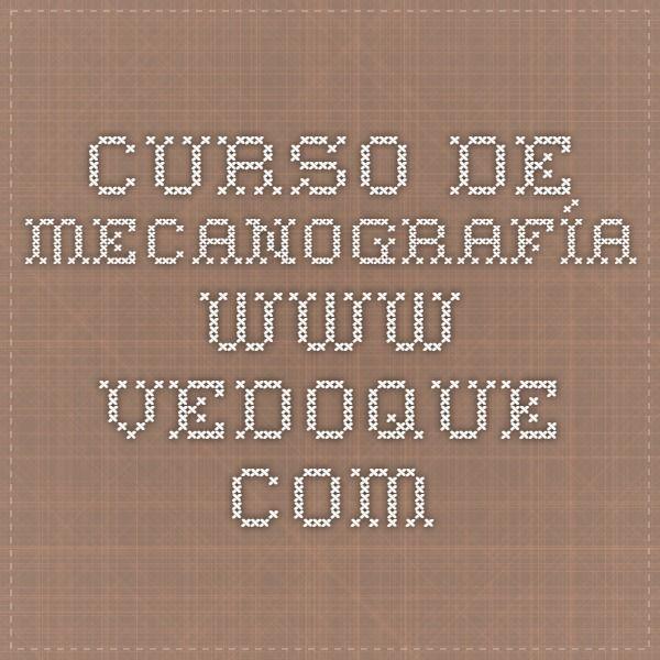 Curso De Mecanografía Vedoque I Cursillo