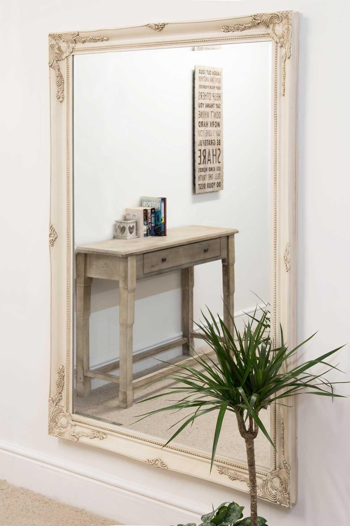 Buckland Ivory Framed Mirror 170x109cm | 家装 | Pinterest | Frame ...