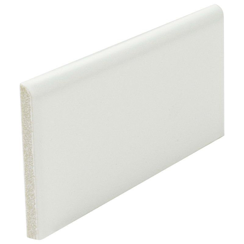 Elitetile Retro 3 75 X 1 75 Porcelain Bullnose Tile Trim In Matte White Reviews Wayfair Tile Trim Bullnose Tile Elitetile