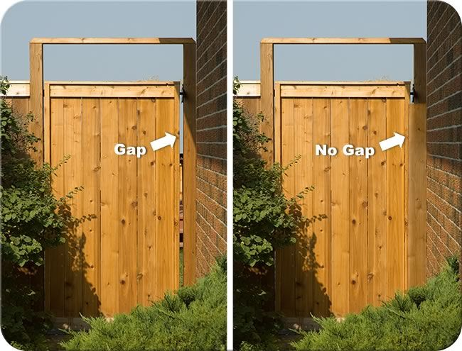 Wood gate stop to hide the gap yard gates pinterest