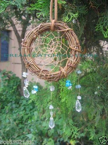 Twilight New Moon Natural Cane Circle Dream Catcher