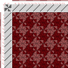 draft image: Figurierte Muster Pl. XXI Nr. 5 (a), Die färbige Gewebemusterung, Franz Donat, 8S, 8T