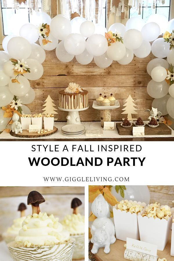 Welcome Fall with a woodland inspired party table ...