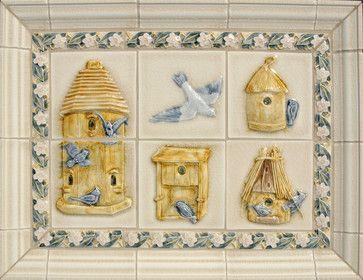 Garden and Flower Themes - traditional - kitchen tile - portland - Pratt and Larson Ceramics