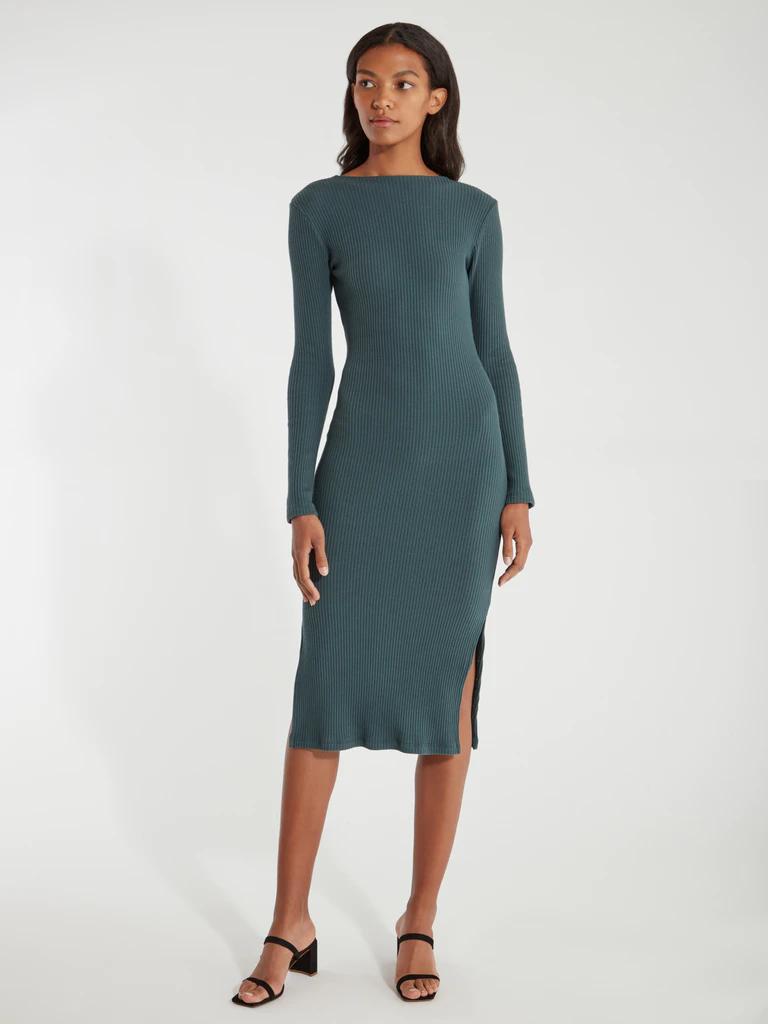 20 Long Sleeve Midi Dresses For Your Winter Wardrobe Consideration ...